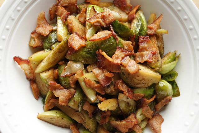 Sautéed Brussels Sprouts with Bacon | Recipes | Pinterest