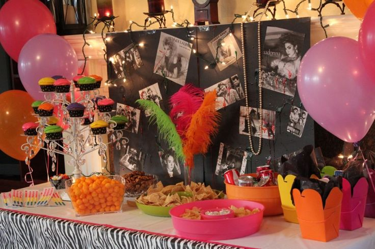 80s prom party decor neon party pinterest for 80 s table decoration ideas
