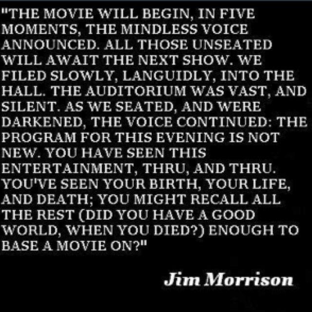 Lyrics the Doors Jim Morrison Quote