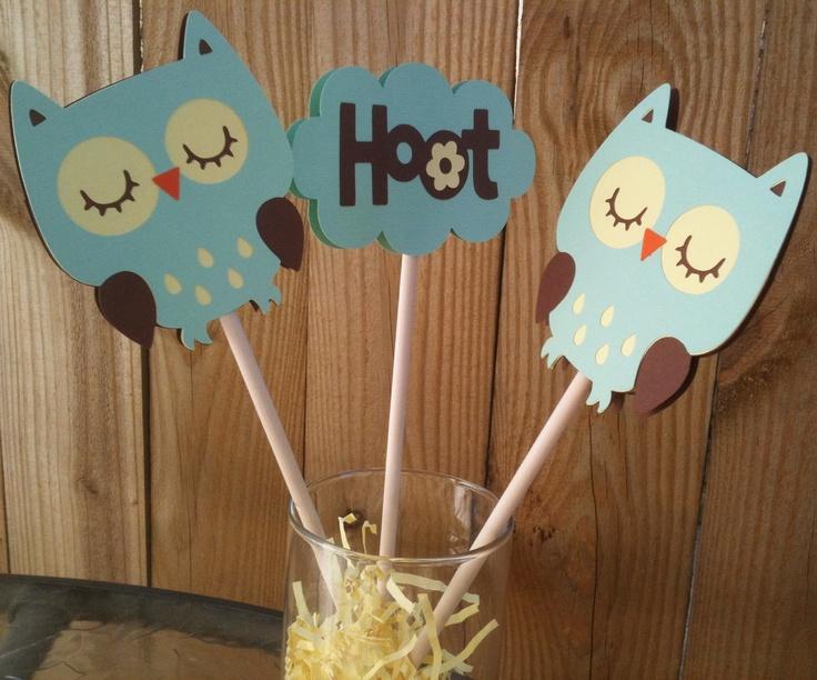 baby owl centerpieces baby shower ideas pinterest