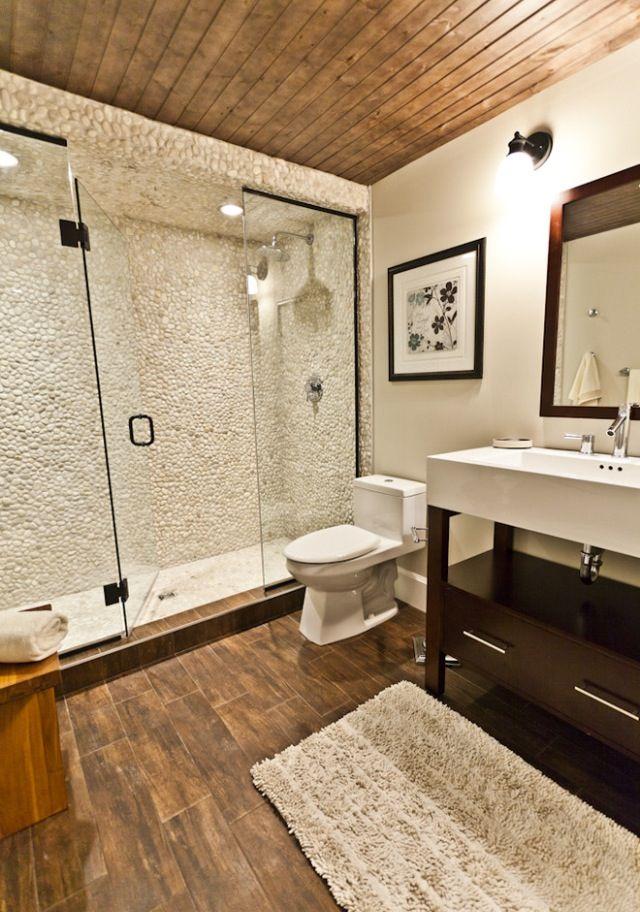 Rustic Yet Modern Bathroom For The Home Pinterest