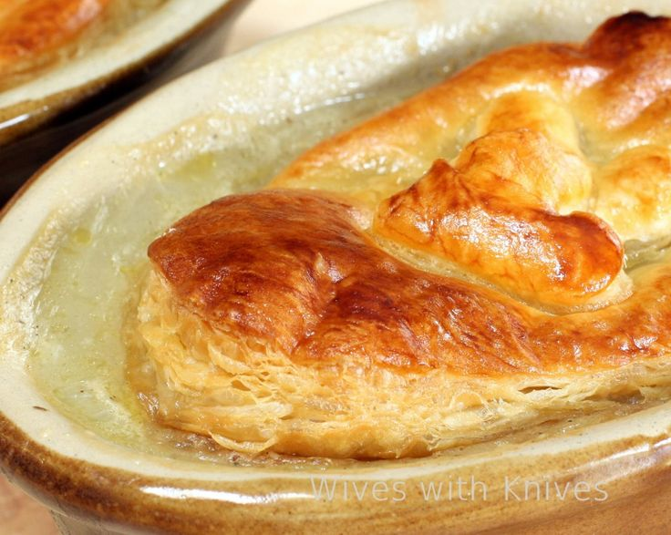 """Individual Chicken Pot Pies with """"store bought"""" Puff Pastry, simple..."""