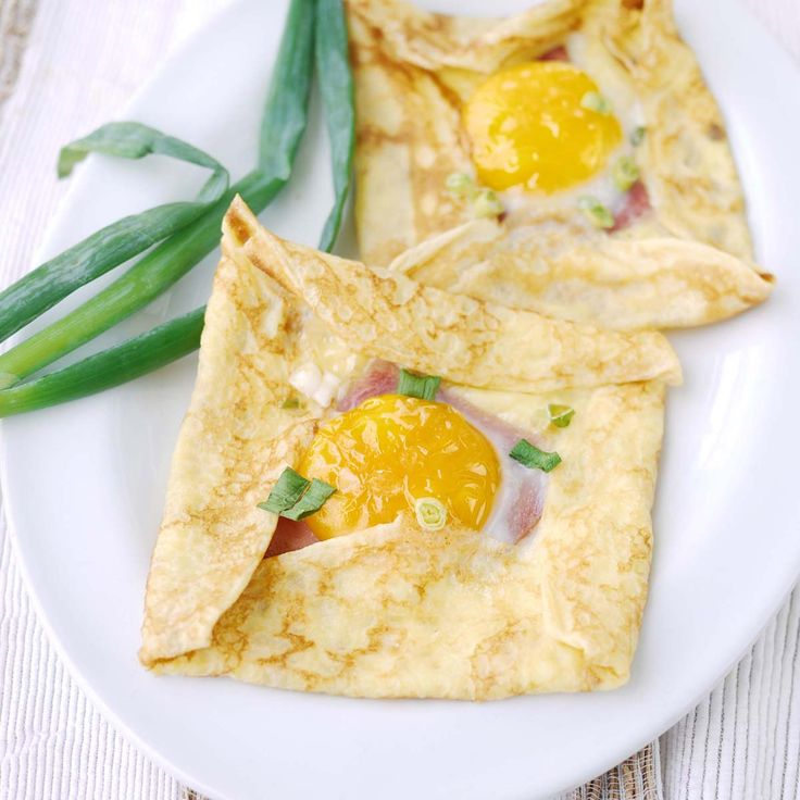 Ham, Cheese and Egg Crepe | Food love | Pinterest