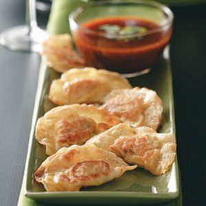 Shrimp Pot Stickers with Ginger-Lemon Sauce Recipe Good way to use ...
