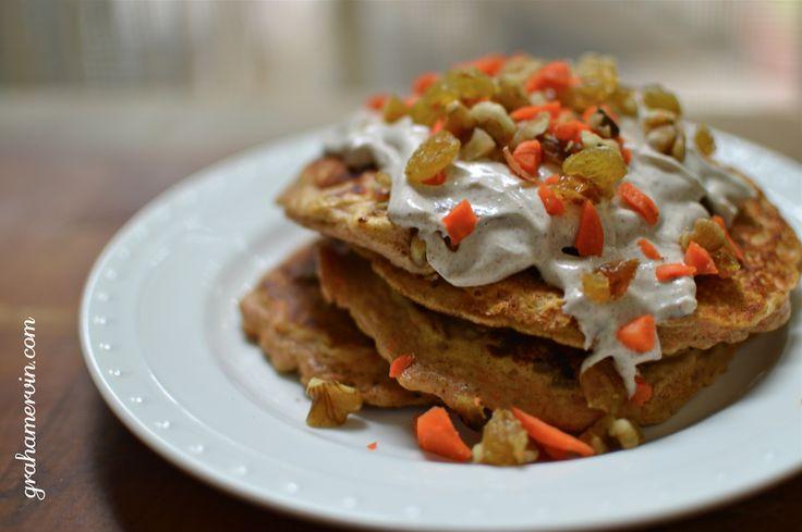 Recipe: Carrot Cake Protein Pancakes. 06/09/14 #teamgraham #cellucor