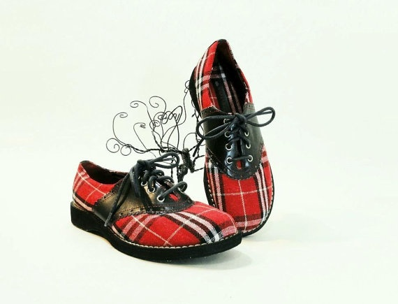 plaid shoes