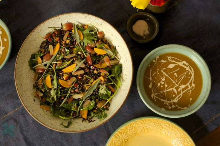 Wild Rice Salad, Butternut Squash Apple Soup, Thanksgiving Recipes