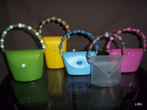 little bags | recycled plastic bags and bottles | Pinterest
