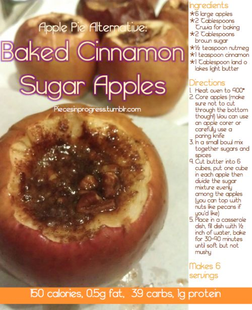 mum has baked apples with cinnamon and sugar close THE