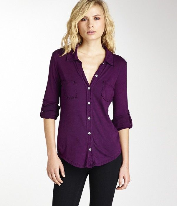 Luxe Slub Fitted Button Down Women 39 S Blouses Button