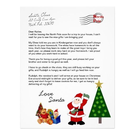 Personalized Christmas Letter From Santa, straight from the North Pole ...