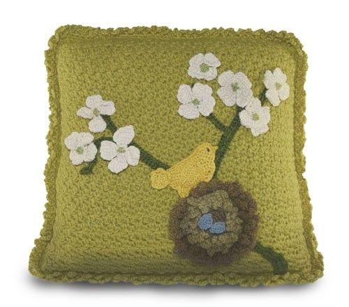 Bird Crochet Pillow Pattern, crochet birds, crochet pillow, crochet ...