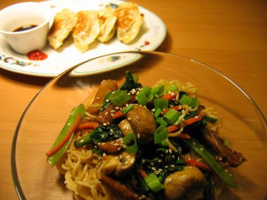 seitan ramen noodles and gyoza   Yumms   Pinterest