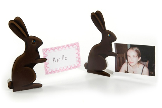 Chocolate Bunny Place Card Holders!!
