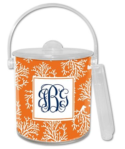 $55 Coral Repeat Lucite Ice Bucket