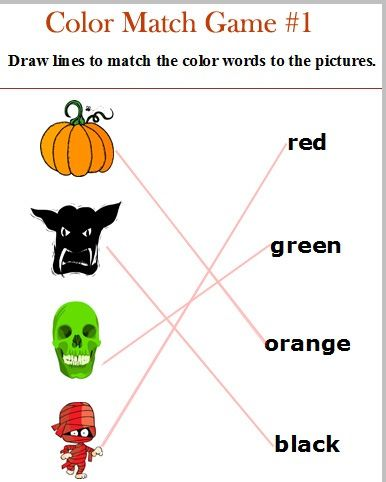 Color match | Worksheets for different lessons, English, Arab , Chin ...