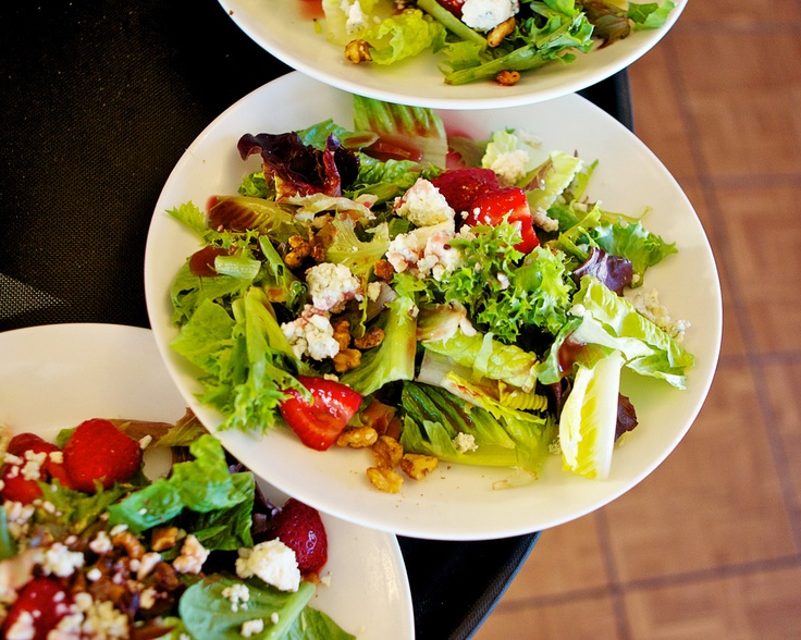 , gorgonzola cheese, candied walnuts, and raspberry vinaigrette salad ...