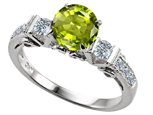 peridot birthstone engagement ring jewelry pinterest