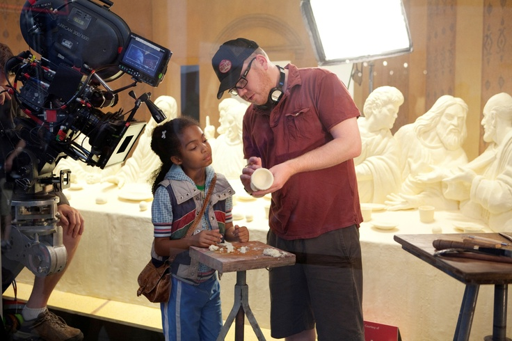 Director Jim Field Smith and starlet Yara Shahidi in 'Butter.' http://numet.ro/butter