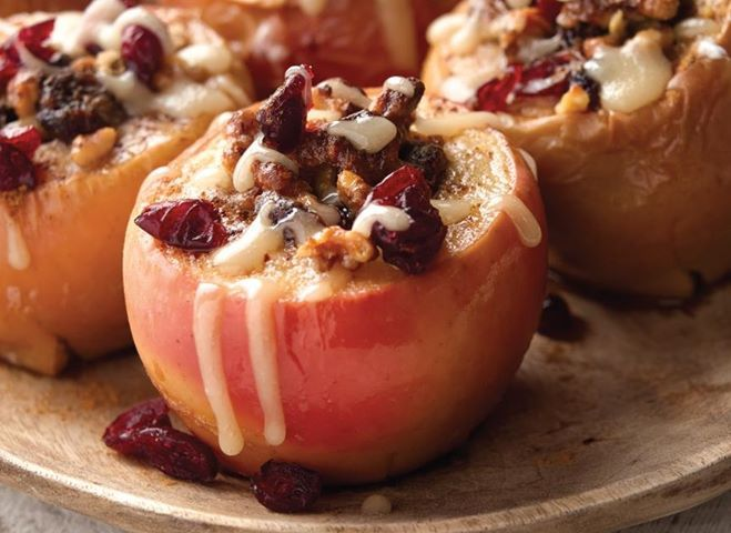Baked Apples Stuffed with Cranberries & Walnuts Recipe - from The ...