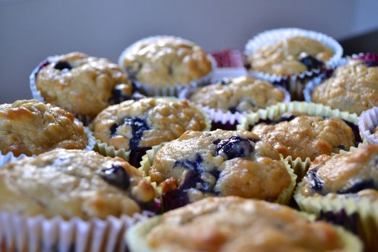 On the Go Blueberry Oat Muffins. Sound like they wouldn't be too crazy ...