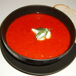 Roasted Red Pepper and Tomato Soup Allrecipes.com