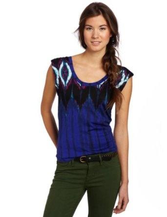 Cheap Hurley Juniors Zahara Short Sleeve, Kensington Blue, Medium The