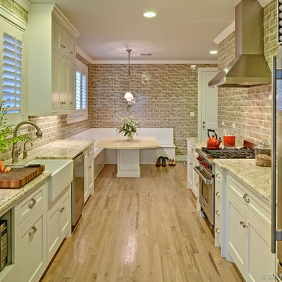 galley kitchen w bench seating feels like home pinterest
