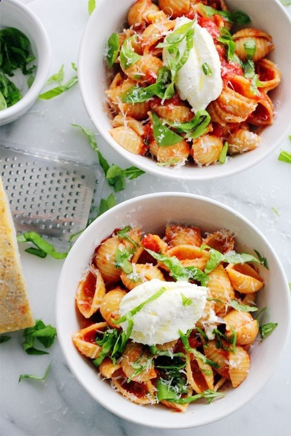 Baby Shells with Butter Roasted Tomato Sauce and Fresh Ricotta Check ...