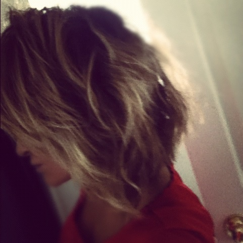 Wavy angled bob | hair styles | Pinterest