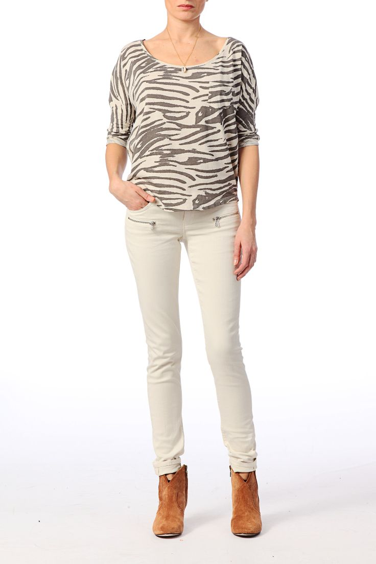 Maison Scotch Zebra Top