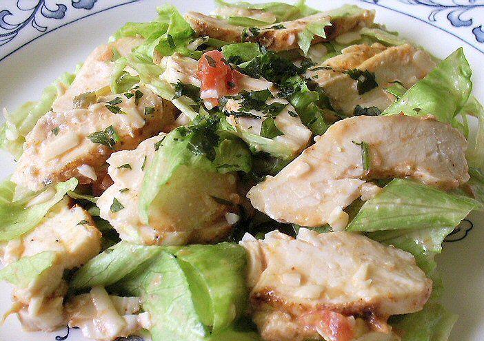 fiesta ranch chicken salad | salads | Pinterest