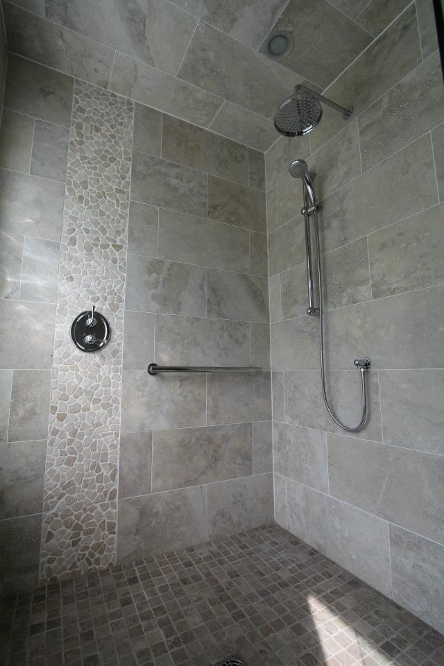 River rock shower detail if i redid our master bath for River rock bathroom ideas