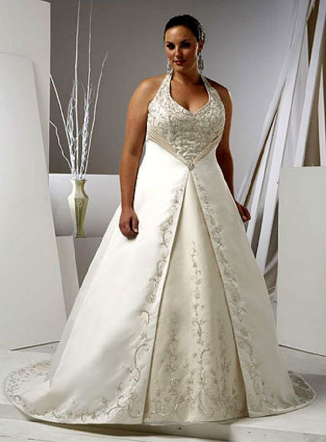 Plus size casual wedding dresses wedding dresses pinterest for Wedding dresses for larger figures