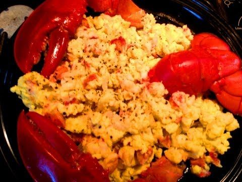 smoked salmon scrambled eggs caramelized onions lobster scrambled eggs ...