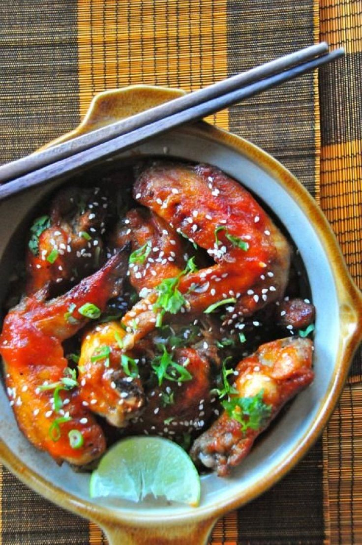 Spicy Sriracha Sesame Chicken Wings | Successful and Tried Pinterest ...