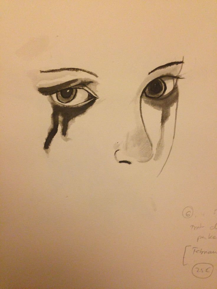 My sixth drawing. Sad eyes, August 2013. | Drawings ...