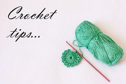 Crochet tips! KNIT & CROCHET Pinterest