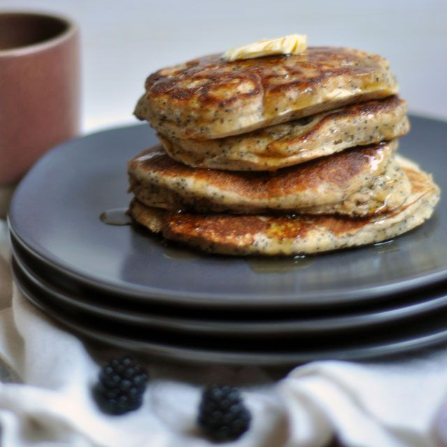 Whole Wheat Almond-Poppy Seed Pancakes | Breakfast of Champions | Pin ...