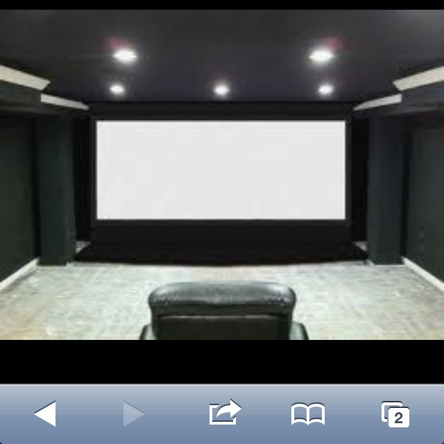 Gray color scheme for the home theater for the home Home theater colors