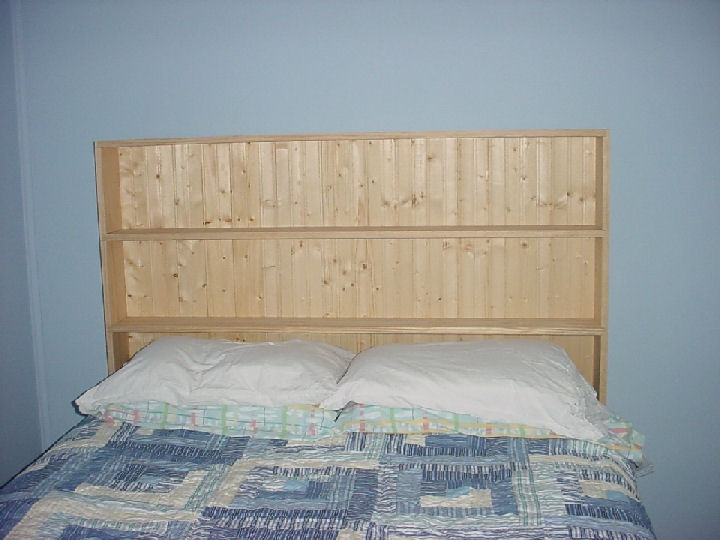 Beadboard headboard with shelves this is exactly what i want in our