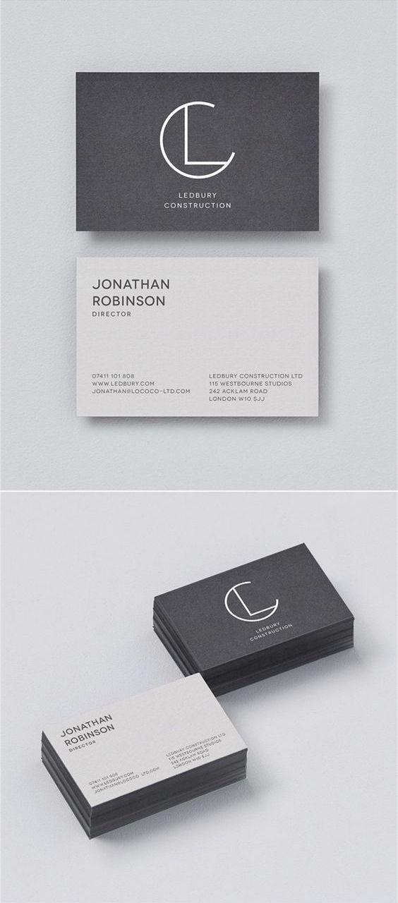 Minimalist Modern Black And White Business Card  Anti Matter