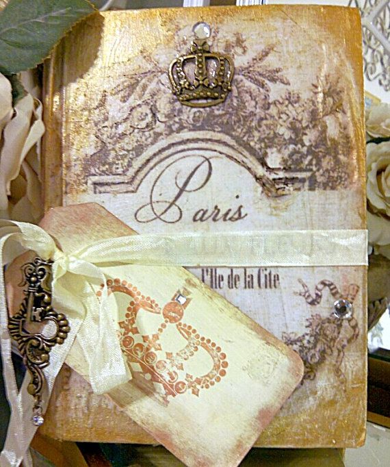 Beautiful french altered vintage book wedding by DevineImagination, $9.50