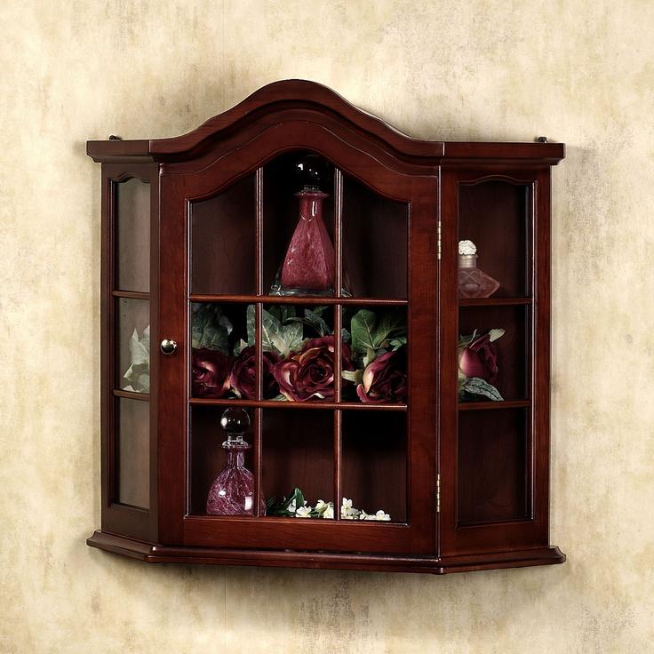 Foyer Curio Cabinet : Aubrie wall curio cabinet
