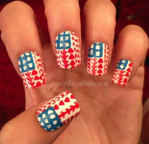 USA nail art | Beauty - Nails and Nail Art | Pinterest