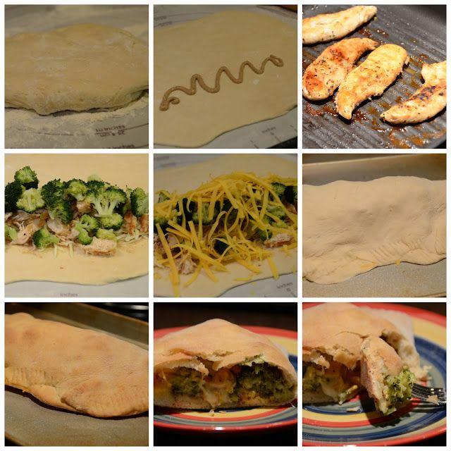 Loving Life: Secret Recipe Club: Broccoli Chicken Calzone