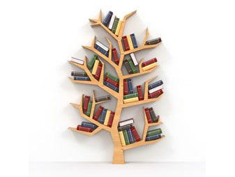 Tree bookcase woodworking ideas pinterest - Bookshelf shaped like a tree ...