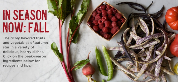 In Season Now | Williams-Sonoma.  See what's in season NOW by accessing this page at Williams-Sonoma's site.