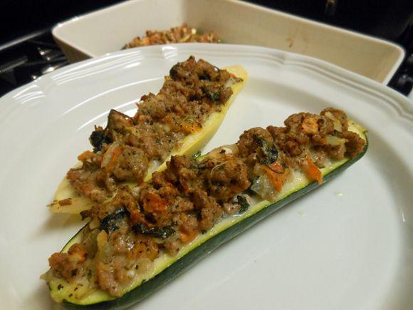 Turkey Stuffed Zucchini Boats | Dinner | Pinterest