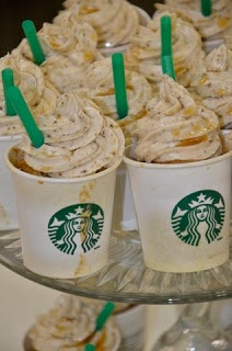 Pumpkin spice caramel mocha frappuccino cupcakes...say what?!?!? These ...